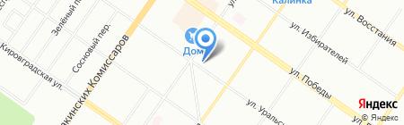 Почтовое отделение №42 на карте Екатеринбурга