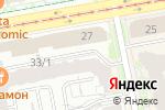 Схема проезда до компании Международный визовый центр в Екатеринбурге