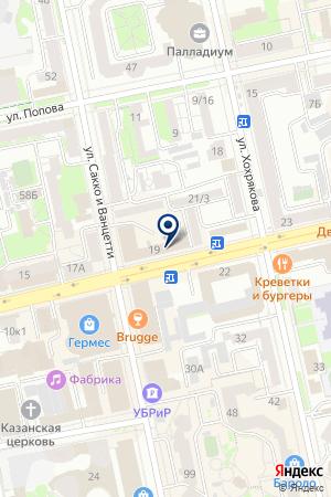 ФТК-фактор на карте Екатеринбурга