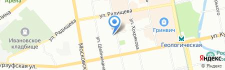 Уралэнергострой на карте Екатеринбурга