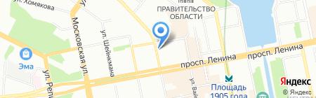 Банкомат АКБ Авангард на карте Екатеринбурга