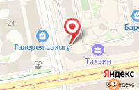 Схема проезда до компании Тихвинское в Екатеринбурге