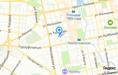 Местоположение на карте пункта техосмотра по адресу г Екатеринбург, ул Шейнкмана, д 73