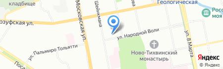 Экстрол на карте Екатеринбурга