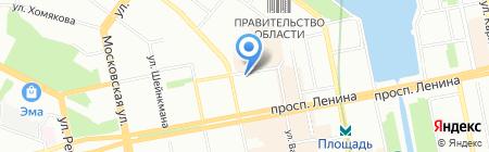 Моторяд на карте Екатеринбурга