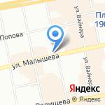 Волхонка на карте Екатеринбурга