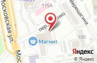 Схема проезда до компании Арсэн в Екатеринбурге
