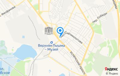 Местоположение на карте пункта техосмотра по адресу Свердловская обл, г Верхняя Пышма, пр-кт Успенский, д 2