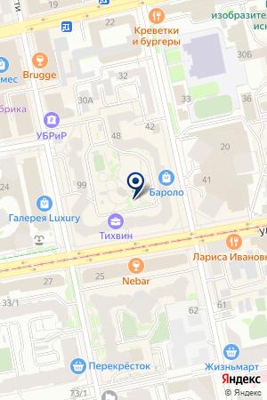 Тихвинъ на карте Екатеринбурга