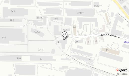 Северснаб. Схема проезда в Екатеринбурге