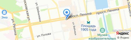 Рукоделкино на карте Екатеринбурга