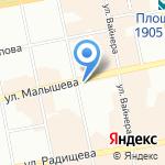 Росс-Тур на карте Екатеринбурга