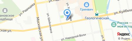 Триколор на карте Екатеринбурга