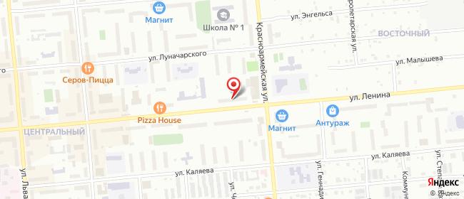 Карта расположения пункта доставки Пункт выдачи в городе Серов