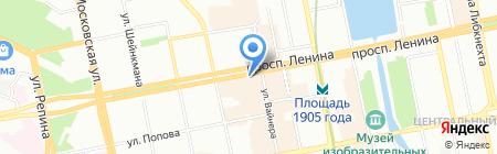 Копицентр на карте Екатеринбурга