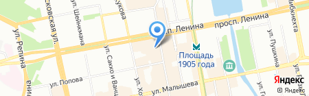 МАЛИНА на карте Екатеринбурга