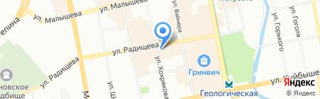Парад на карте Екатеринбурга