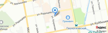 Источник Плюс на карте Екатеринбурга