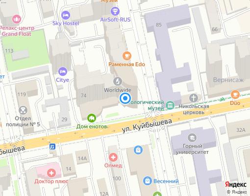 Управляющая компания «Кристалл» на карте Екатеринбурга