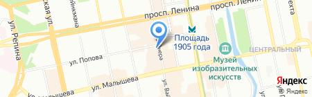 Ю)Line на карте Екатеринбурга