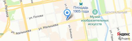 Дом недвижимости на карте Екатеринбурга
