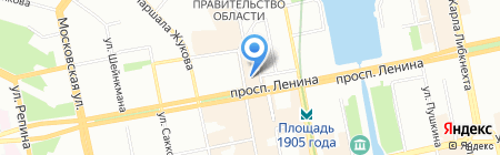 Парикмахерский магазин на карте Екатеринбурга