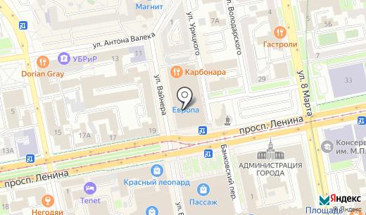 Парикмахерский магазин. Схема проезда в Екатеринбурге