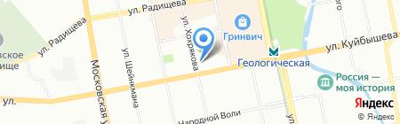 Уральский геологический музей на карте Екатеринбурга
