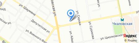 Пуэр-хостел на карте Екатеринбурга