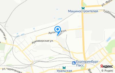 Местоположение на карте пункта техосмотра по адресу г Екатеринбург, ул Артинская, д 23А
