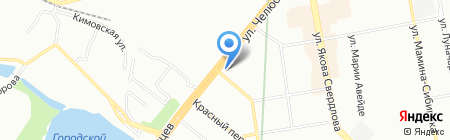 Екатеринбургский завод строительных конструкций на карте Екатеринбурга