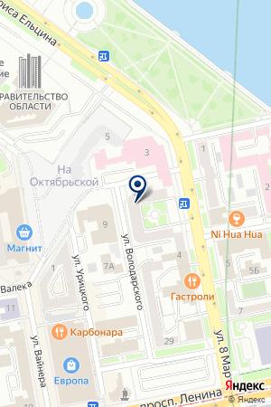 ОЛИКС на карте Екатеринбурга