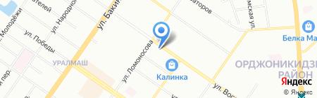 Удача на карте Екатеринбурга