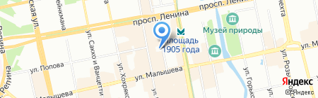 КОПИРУС на карте Екатеринбурга