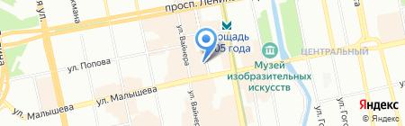 Ортикс на карте Екатеринбурга
