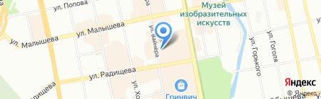 Классик на карте Екатеринбурга