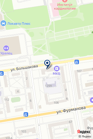 Уральский банк Сбербанка России на карте Екатеринбурга