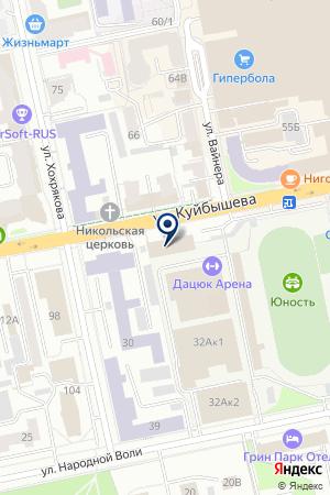 Каток вспортивном комплексе Юность на карте Екатеринбурга