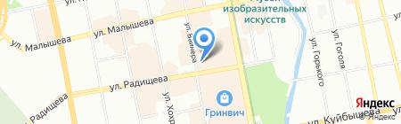 Восток Бизнес Групп на карте Екатеринбурга