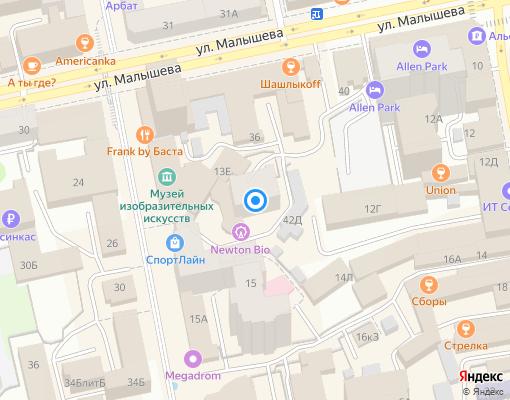 Управляющая компания «Стройжилсервис» на карте Екатеринбурга