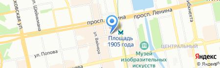 Мария на карте Екатеринбурга