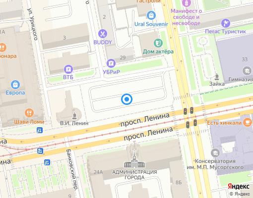 Товарищество собственников жилья «Красных командиров 104» на карте Екатеринбурга