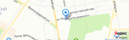 Починикс на карте Екатеринбурга