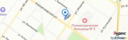 Здравница на карте Екатеринбурга