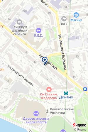 Миссури на карте Екатеринбурга