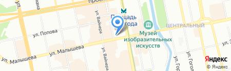 Банкомат ВУЗ-банк на карте Екатеринбурга