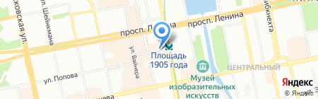 Ювелиры Урала на карте Екатеринбурга