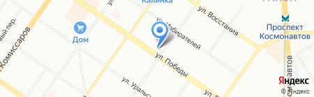 Поспелов на карте Екатеринбурга