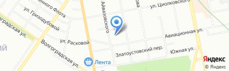 Ярмарка на карте Екатеринбурга