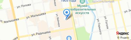 Комплексный центр социального обслуживания населения г. Екатеринбурга на карте Екатеринбурга